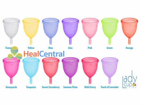 Các loại màu sắc của cốc nguyệt san Ladycup