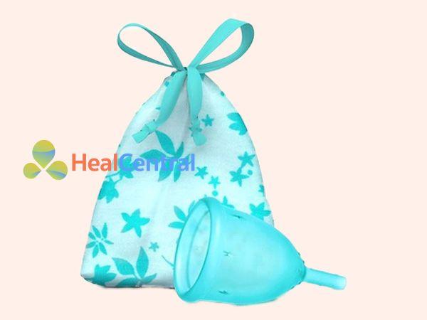 Cốc nguyệt san Ladycup màu xanh