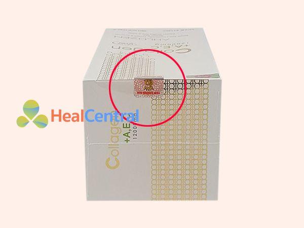 Tem chống giả của Collagen +A,E,C