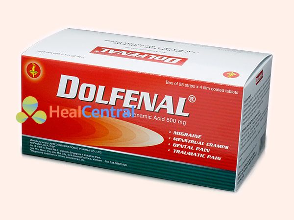 Thuốc Dolfenal chứa hoạt chất chính là axit mefenamic