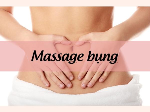 Massage bụng theo chiều kim đồng hồ