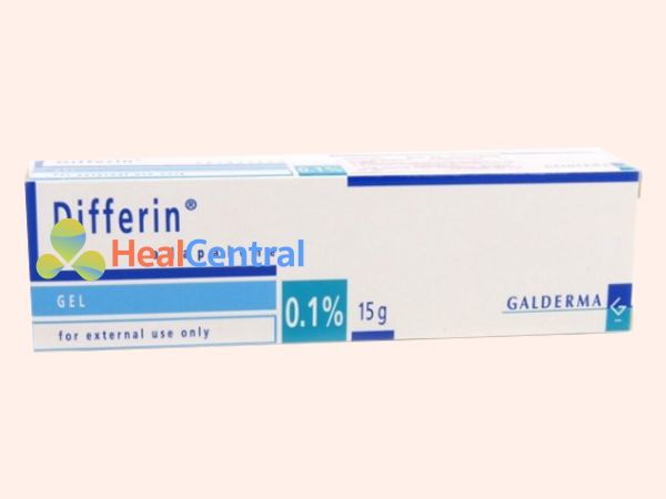 Hình ảnh hộp kem trị mụn Differin 0.1%