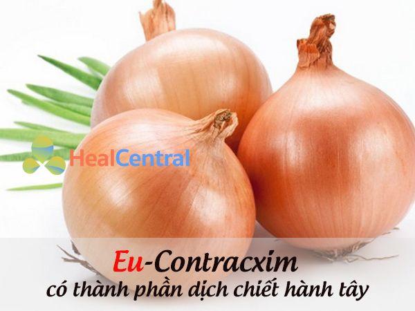 Thành phần kem trị sẹo Eu Contracxim chứa dịch chiết hành tây