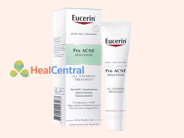 Eucerin ProACNE được bào chế dưới dạng kem bôi da