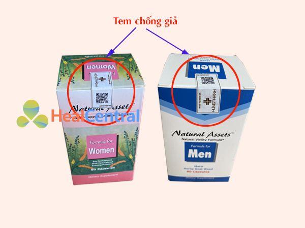 Formula For Men có tem chống giả của nhà sản xuất