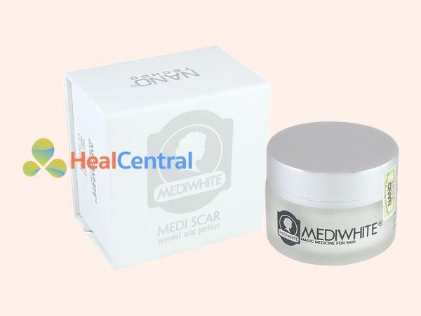 Hình ảnh hộp kem trị sẹo Medi White
