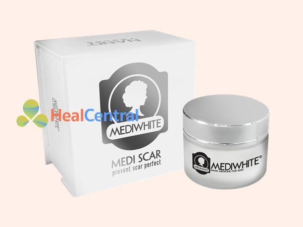 Mỗi hộp kem trị sẹo Medi White có 25g