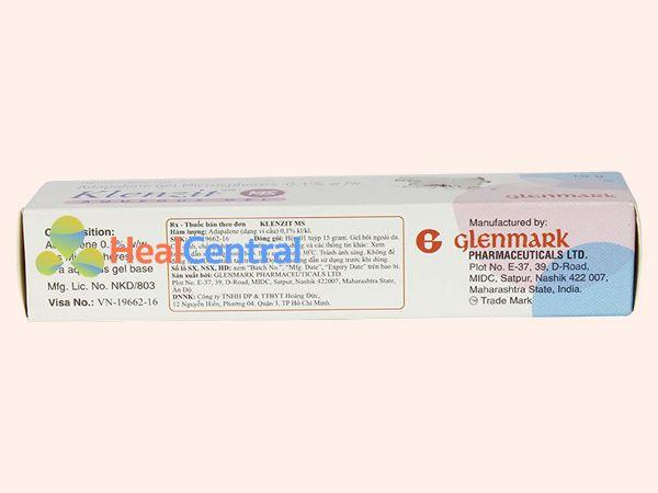 Thuốc Klenzit MS có xuất xứ từ Ấn Độ