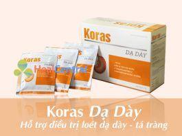 Gói bột uống Koras dạ dày