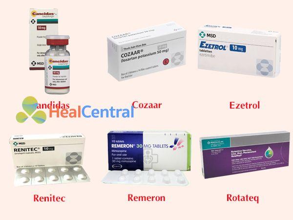 Các thuốc nổi tiếng của Công ty MSD