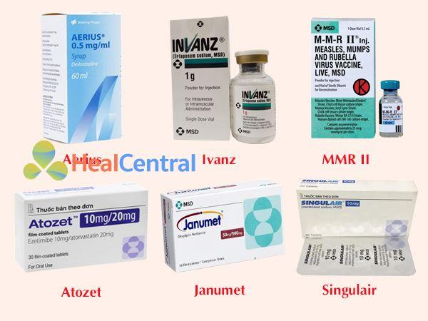 Một số thuốc nổi tiếng của hãng