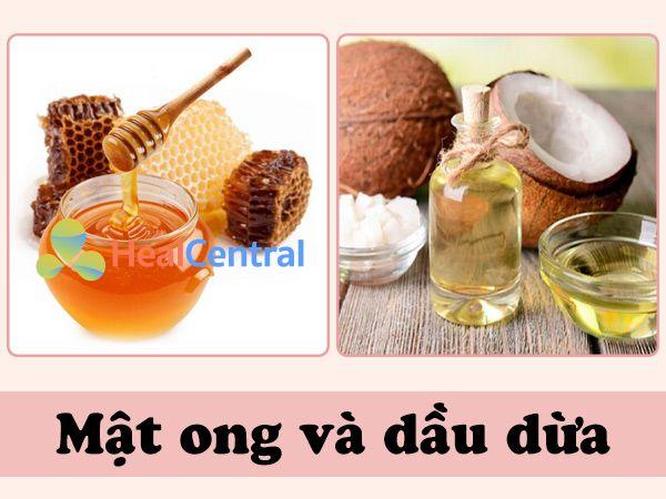 Hỗn hợp mật ong và dầu dừa cung cấp các loại dưỡng chất cần thiết, các vitamin như E, C,... cho da giúp cải thiện màu da, ngăn ngừa mụn thịt