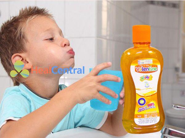 Nước súc miệng Valentine for kiss rất an toàn cho trẻ em