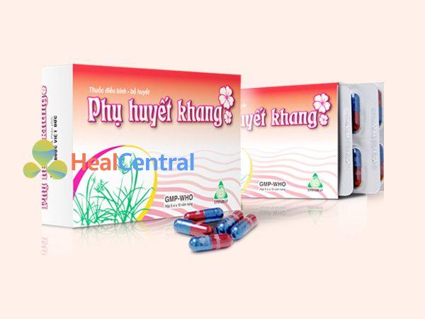 Hình ảnh hộp sản phẩm Phụ Huyết Khang