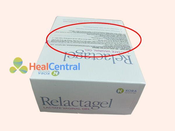 Tem phụ của thuốc Relactagel