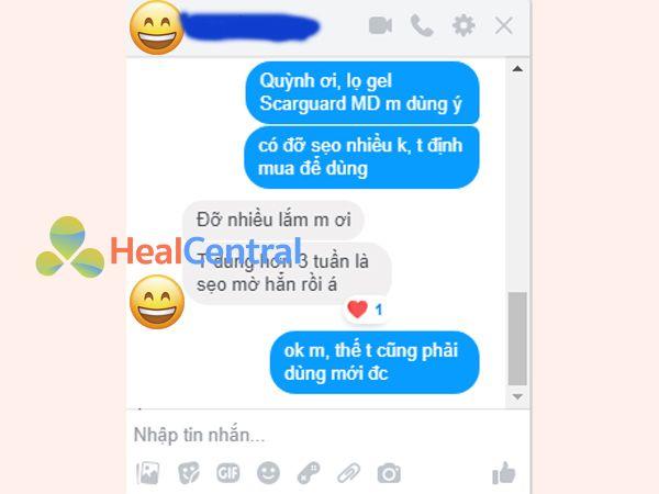 Phản hồi của khách hàng sau khi dùng thuốc trị sẹo Scarguard MD
