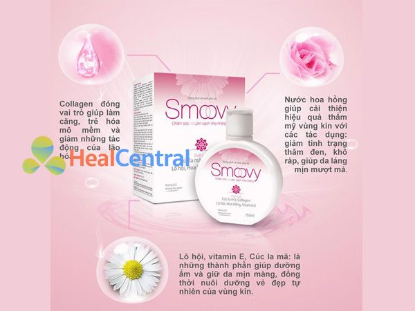 Các thành phần chính có trong dung dịch vệ sinh phụ nữ Smoovy