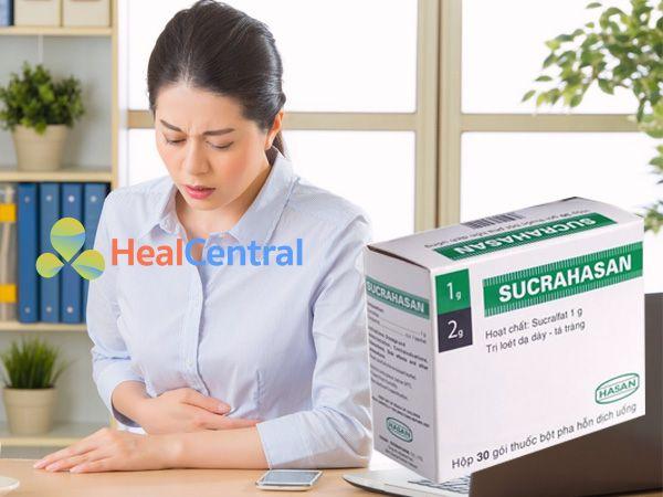 Thuốc Sucrahasan gel 5ml giúp giảm tình trạng loét dạ dày