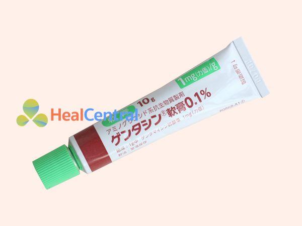 Mỗi tuýp kem trị sẹo Gentacin có 10 kem bôi