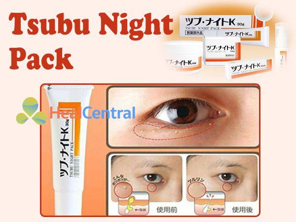 Không sử dụng Tsubu Night Pack cho phụ nữ mang thai hoặc trên vùng ngực khi cho con bú.