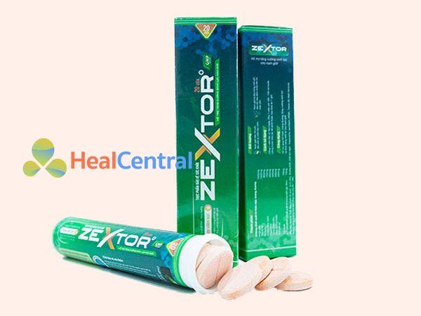 Viên sủi Zextor sản xuất bởi Công ty Dược Phẩm OG