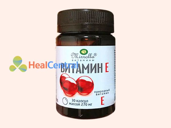 Hình ảnh lọ Vitamin E đỏ Nga