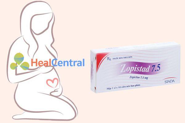 Phun nữ có thai không sử dụng Zopistad