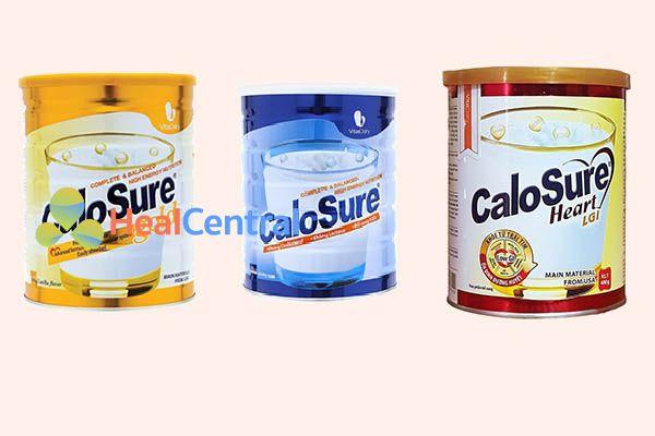 Các dòng sữa CaloSure hiện nay
