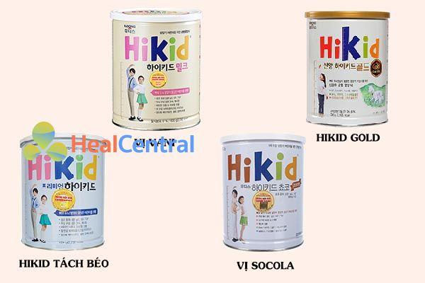 Các hương vị sữa HIKID