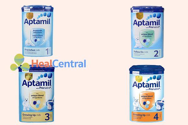 Các sản phẩm sữa Aptamil cho từng thời kỳ của trẻ