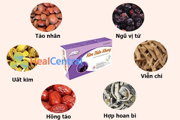 Các thành phần thảo dược trong Kim Thần Khang