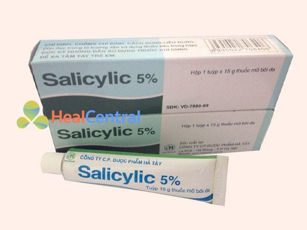 Điều trị mụn mủ bằng acid salicylic