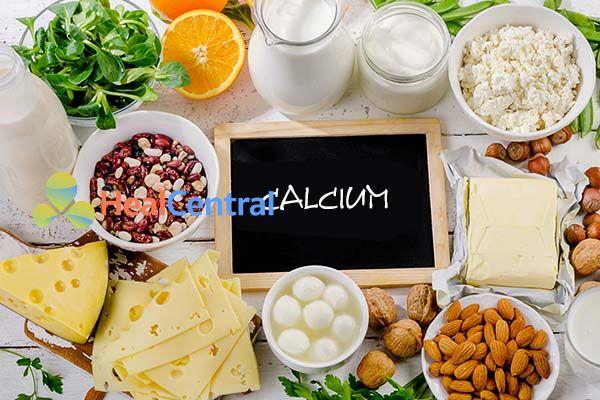 Calci là thành phần thường thấy trong các thuốc tăng chiều cao