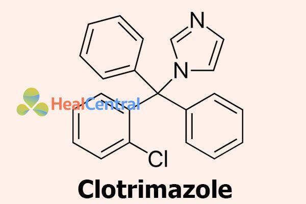 Công thức hóa học của Clotrimazole