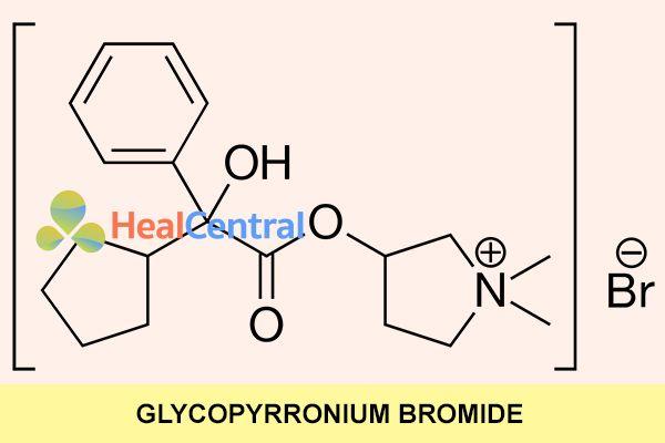 Công thức hóa học của Glycopyrronium Bromide