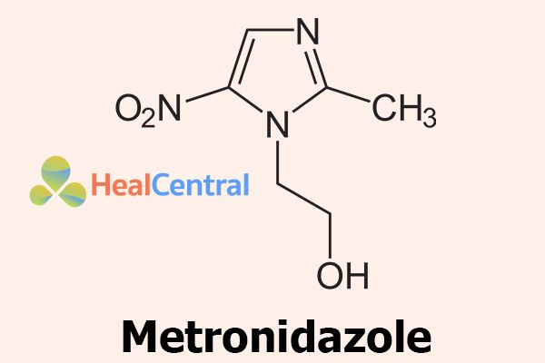 Công thức hóa học của Metronidazole