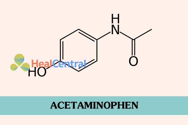 Công thức hóa học của Acetaminophen