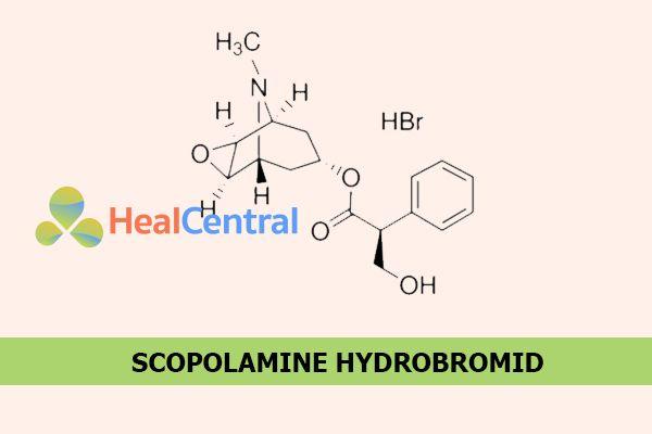 Công thức hóa học của Scopolamine Hydrobromid