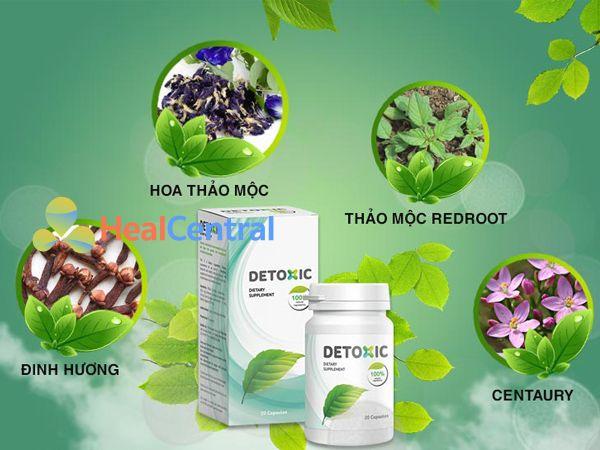 Các thành phần có trong thuốc Detoxic