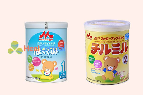 Hai loại sữa Morinaga nhập khẩu