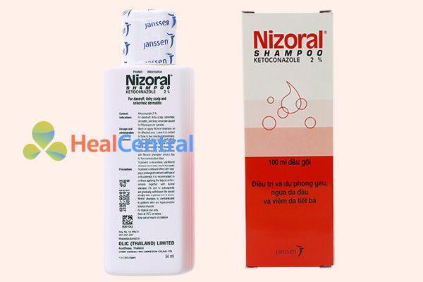 Hộp dầu gội trị nấm Nizoral Shampoo