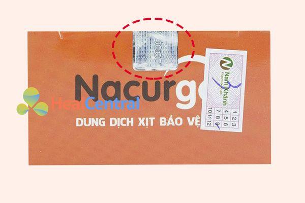 Hộp Nacurgo có tem chính hãng
