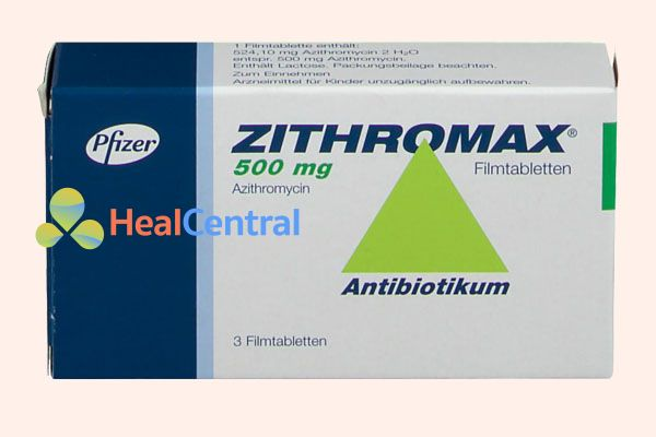Hộp thuốc Zithromax