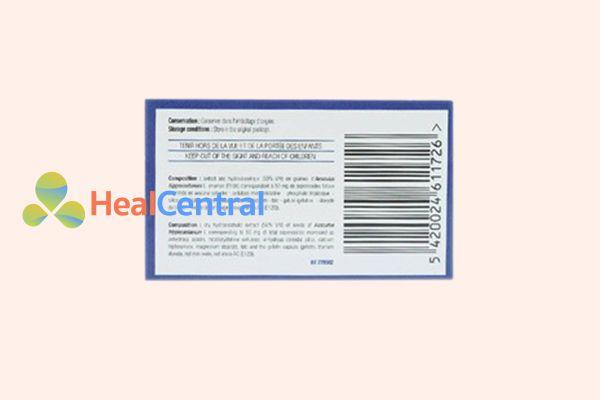 Mã vạch của thuốc Veinofytol