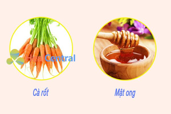 Nước ép cà rốt và mật ong tốt cho bệnh nhân bị bệnh trĩ