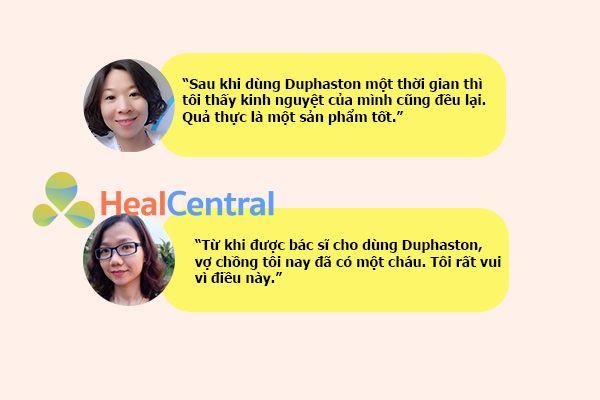 Review của khách hàng về Duphaston