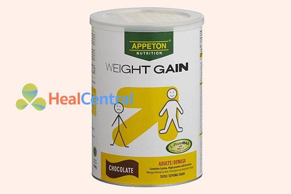 Sữa tăng cân Appeton Weight Gain Adult vị socola