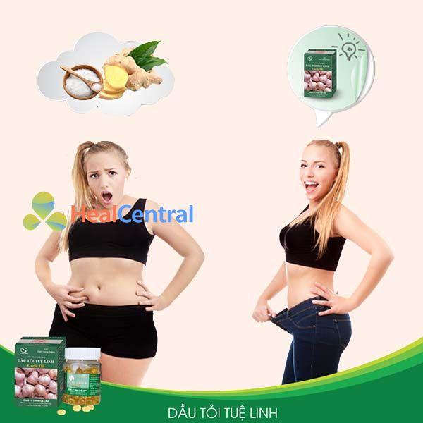 Tinh dầu tỏi Tuệ Linh có tác dụng giảm mỡ bụng