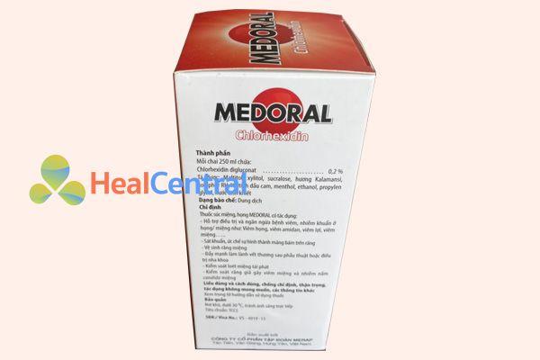 Thành phần chính của Medoral là Chlorhexidin
