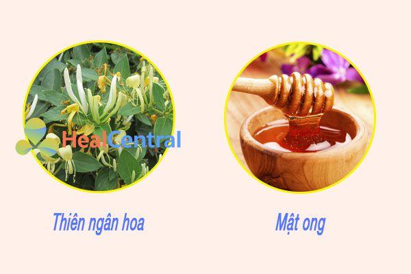 Mật ong và kim ngân hoa